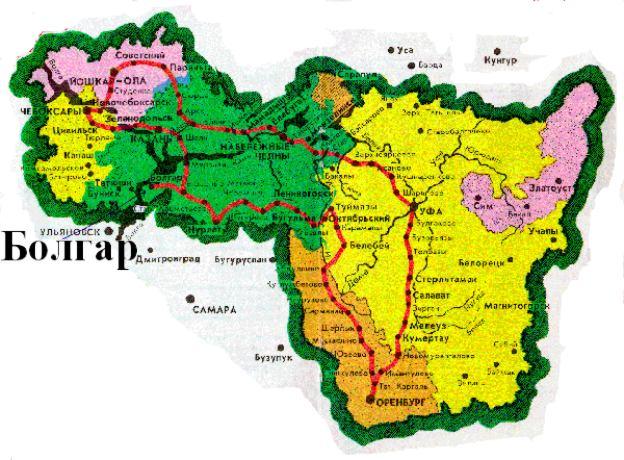 Карта республики 'Идель-Урал'